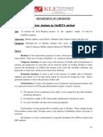 1. Water Analysis by EDTA Method-1