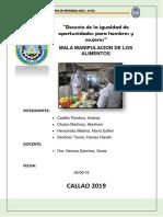 Decimo Informe de Microbiología Mala Manipulacion