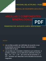 Arcillas y Componentes Mineralógicos Exposicion Geoquimica