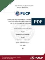 Rodriguez Pacheco Contrato Obras Por Impuestos El Regimen Legal de La Solicitudes de Mayores Obras o Impactos Economicos