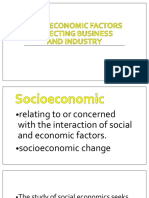 Socioeconomic Factors Affecting Business