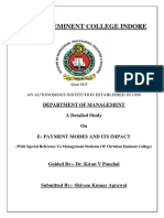 A Detailed Study on E- Payment Modes and Its Impact