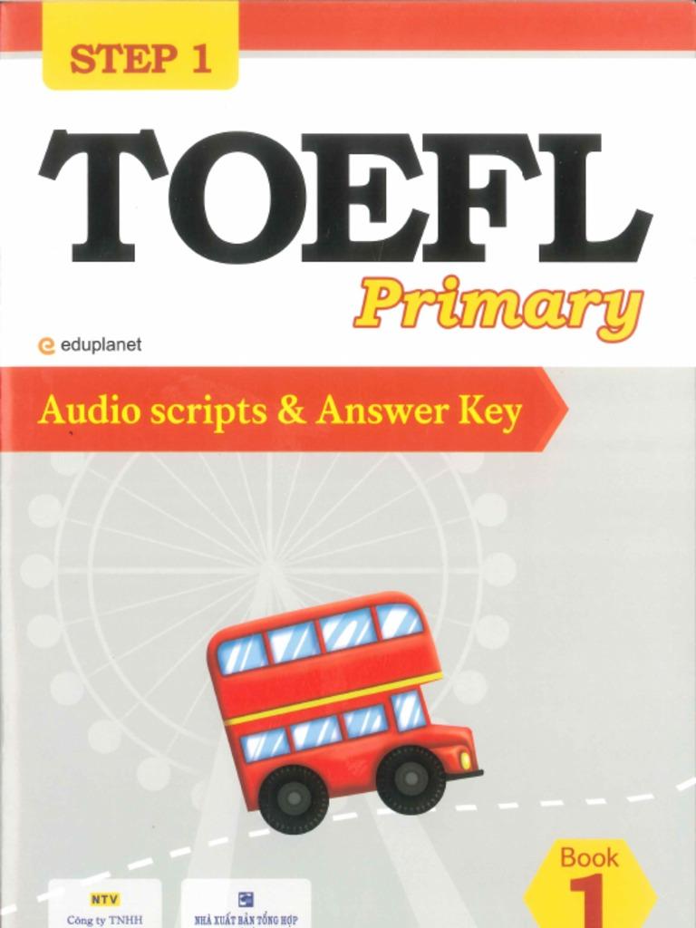 Step1 TOEFL Audio Script and Answer Key 1