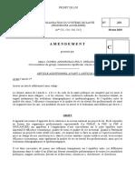 Amendements du groupe CRCE au projet de loi Organisation du Système de Santé