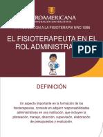 Fisioterapia Rol Administrativo
