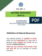 Evs Unit 2_natural Resources Part1