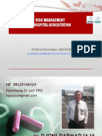 Risk Management in Hosp Accreditation