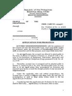Application for Probation - Drug Case