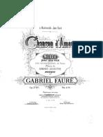 Faure Gabriel Chanson Amour