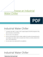 Steps to Choose an Industrial Water Chiller