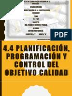 Planificación, programación y control delObjetivo Calidad