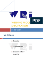 Welding Procedure Specification