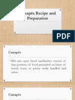 Canapés Recipe and Preparation