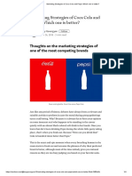 Marketing Strategies of Coca Cola and Pepsi_ Which one is better_