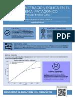 Poster Máxima penetración eólica en el sistema patagónico. Estudio montecarlo.