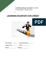 Learning Passport Credit 2018