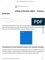 Footing Bar Bending Schedule (BBS) – Estimation of Steel Quantity