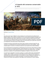 Waterloo y el impacto del giro conservador en el Congreso de 1816