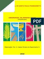 Cerimonial Da Semana Santa, Versão Autoral Revisado 2018