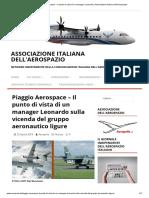 Piaggio Il Punto Di Vista Di Un Manager Leonardo _ Associazione Italiana Dell'Aerospazio 29-4-2019