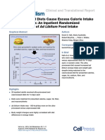 Essen Studie Ultra-Processed Diets Cause Excess Calorie Intake and Weight Gain an Inpatient Randomized Controlled Trial of Ad Libitum Food Intake