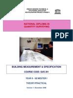 216586577 QUS 201 Building Measurement Specification Theory Practical