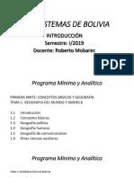 00 Introduccion Ecosistemas de Bolivia