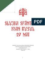 Slujba Sf Ioan Rusu PDF