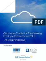 Cloud as an Enabler for Transforming Employee Experiences in PSUs - An India Perspective