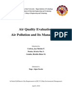 Air Quality Evaluation, Air Pollution and Its Management.docx