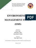 A EM153 Written Report EMS