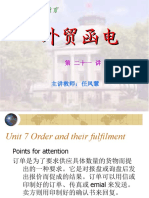 Unit 7 Order and Their Fulfillment