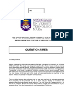 Approved Questionaires