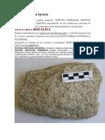 Texturas Rocas Ígneas