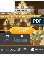 Convocatoria Camp Nal Master de Pista y Campo 2019