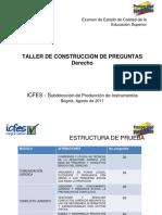 Especificaciones y Criterios Para La Constriccion de Items Derecho