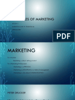 Lesson 1- Marketing and Its Traditional Approaches