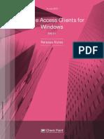 CP E80.61 RemoteAccessClients ForWin ReleaseNotes