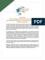 Convocatoria Proceso y Encuentro EP 2019
