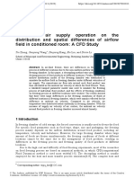 Effects of Air Supply Operation on the Distribution and Spatial Differences of Airflow Fieldinconditioned RoomACFD Study