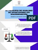 El Principio de Igualdad de Oportunidad Sin Discriminación