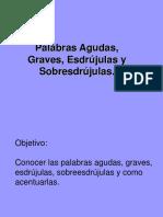 Clase de Palabras Agudas, Graves...