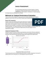 Catalyst Performance Assessment