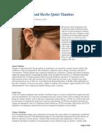 Acupuncture and Herbs Quiet Tinnitus