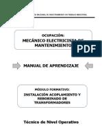 89000363 Instalacion de Acoplamiento y Rebobinado de Transformadores