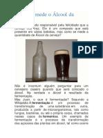 medir álcool