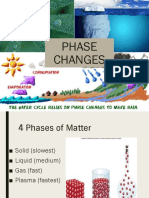 CHANGE IN PHASES OF MATTER