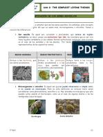 Resumen Unit 2 1 ESO Biology
