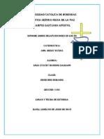 Informe Desapariciones en Honduras