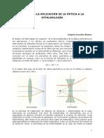 Acerca de La Aplicación de La Óptica a La Oftalmología